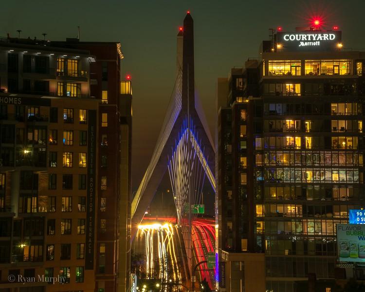 Zakim Bridge Rooftop View.