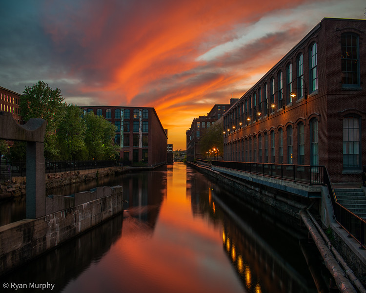 Lowell Canal Sunset.