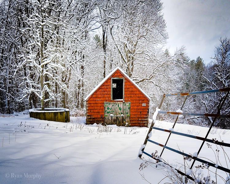 Winter in Dunstable, MA.