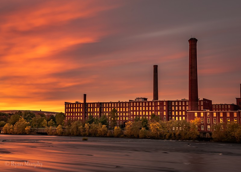 Morning View of the Lowell Mills.