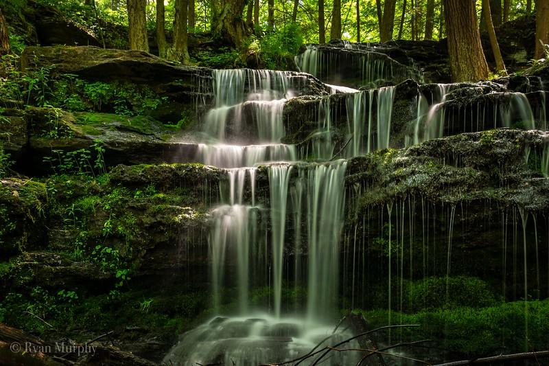 Gunn Brook Falls in Sunderland, Massachusetts.