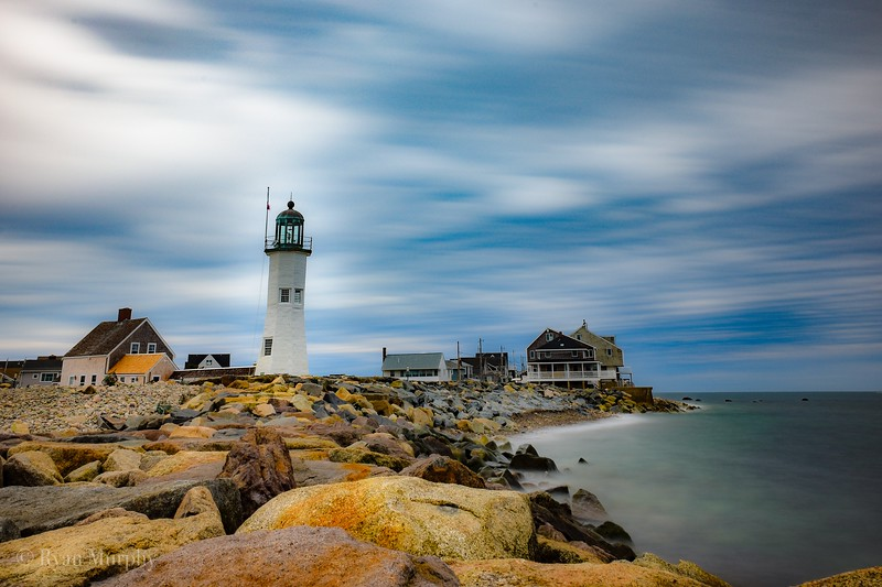 Old Scituate Lighthouse in Scituate, Massachusetts.
