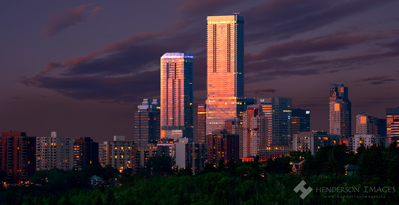 Stantec Tower at Sunset