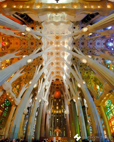 Sagrada Familia Ceiling Panorama