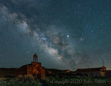Bodie Firehouse at Night