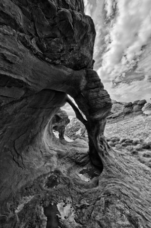 The Fire Cave BW - Valley Of Fire - Nevada