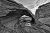Thunderstorm Arch BW - Valley Of Fire - Nevada
