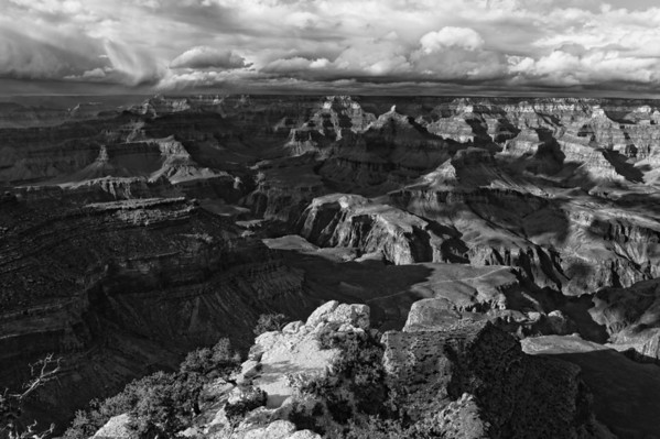 South Rim Grand Canyon BW - Grand Canyon National Park - Arizona