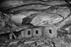 Fallen Roof Ruin BW - Cedar Mesa - Utah