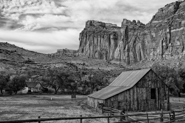 Gifford Farm BW - Capitol Reef National Park - Utah