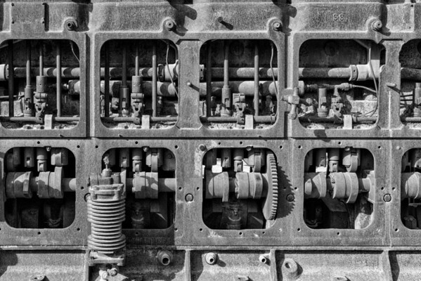 Old Engine BW - Death Valley National Park - California