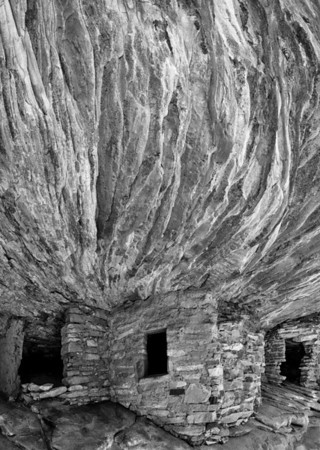 House Of Fire Ruin BW - Cedar Mesa - Utah