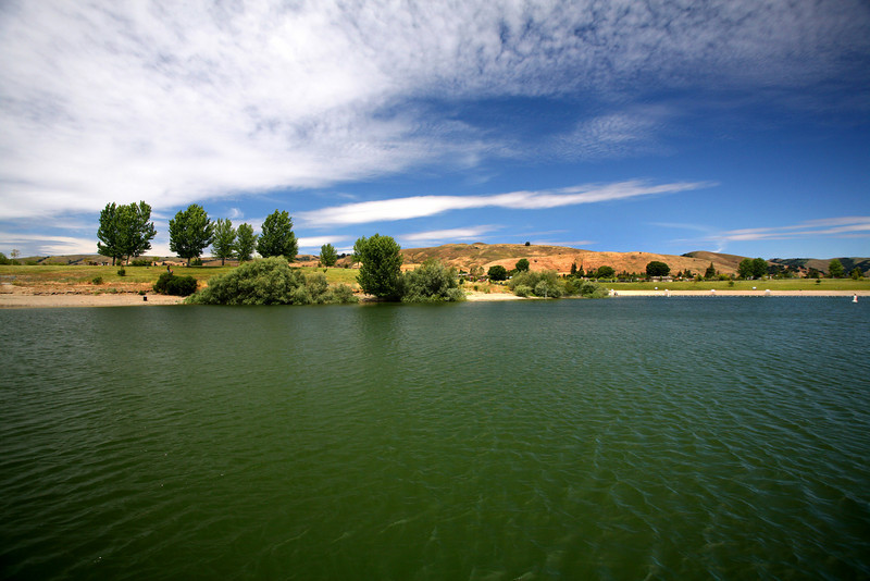 Quarry Lakes Regional Recreation area is located in Fremont, CA. The park is beautiful and there's a lot to do. Guests can swim in the small beach area, picnic, play volleyball, and fish.  Image Number 060310