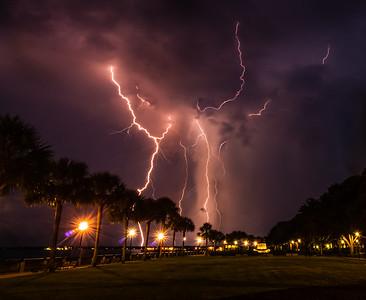 Lightning in South Carolina