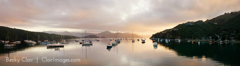 Picton Harbor, South Island, New Zealand