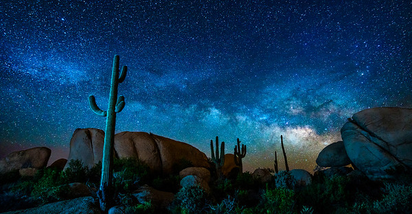 Boulder Milky Way Night, Florence, AZ