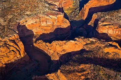 Aerial view, Red Rock Canyon, Arizona