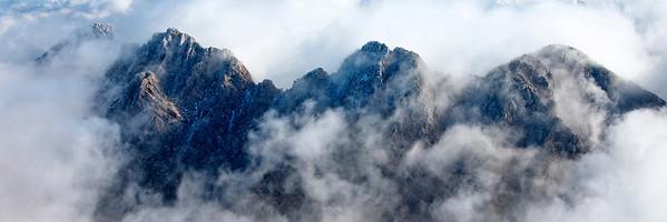Aerial of Four Peaks Peeking, Arizona