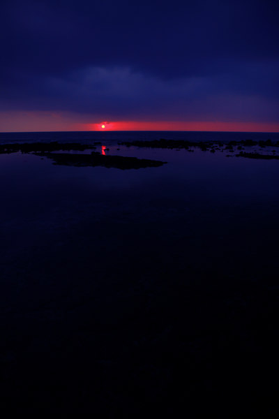 """Kona's Blue and Red Sunset"" Big Island, Hawaii   <br /> <br /> Images By Josh<br /> <br /> <br />  <a href=""http://www.imagesbyjosh.com"">http://www.imagesbyjosh.com</a>"