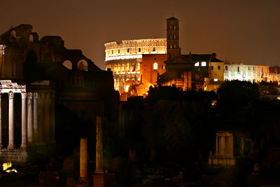 """Roman Coliseum and Forum at Night""    Rome, Italy     Images By Josh        http://www.imagesbyjosh.com"
