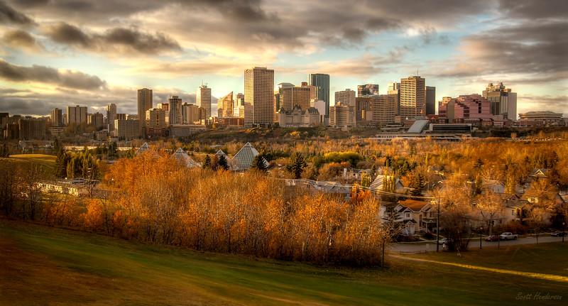 An Autumn Evening in Edmonton