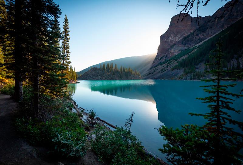 Moraine Lake Alberta East Side