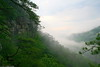 This image was taken early one morning from the cliffs overlooking the Hiwasee river in the Cherokee National Forrest.  It was very cool with the fog drifting down the river valley.