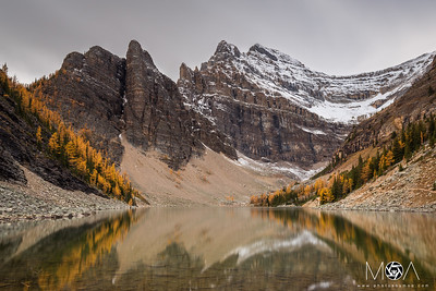 Lake Agnes in Fall