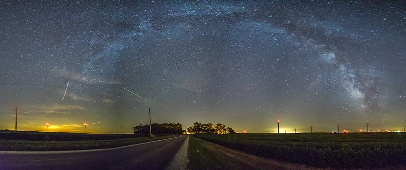 Milky way panoramic