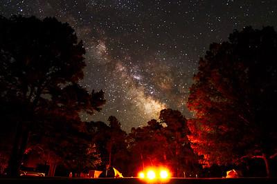 Milky way at Campsite