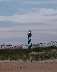 Cape Hatteras Lighthouse light as seen from beach