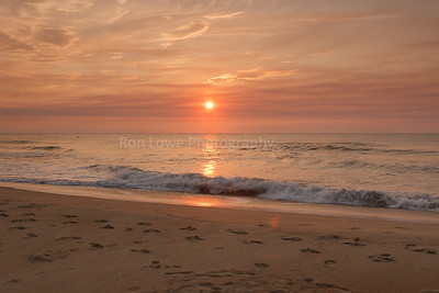 Sunrise on Hatteras beach