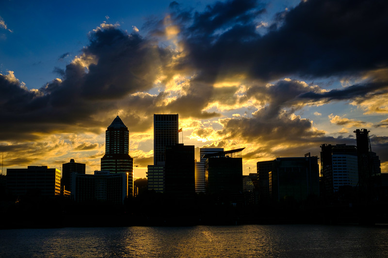 Portland Skyline Sunset 051917-5