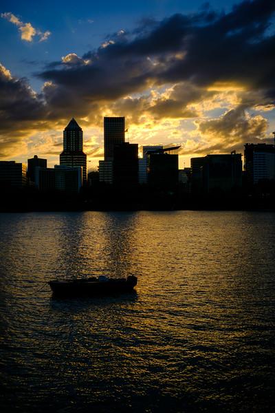 Portland Skyline Sunset 051917-8