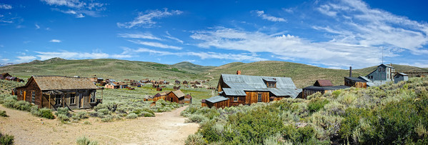 Bodie Ghost Town Looking West - California