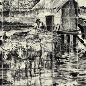No moinho de água