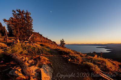 Sun Setting on the Tahoe Rim Trail