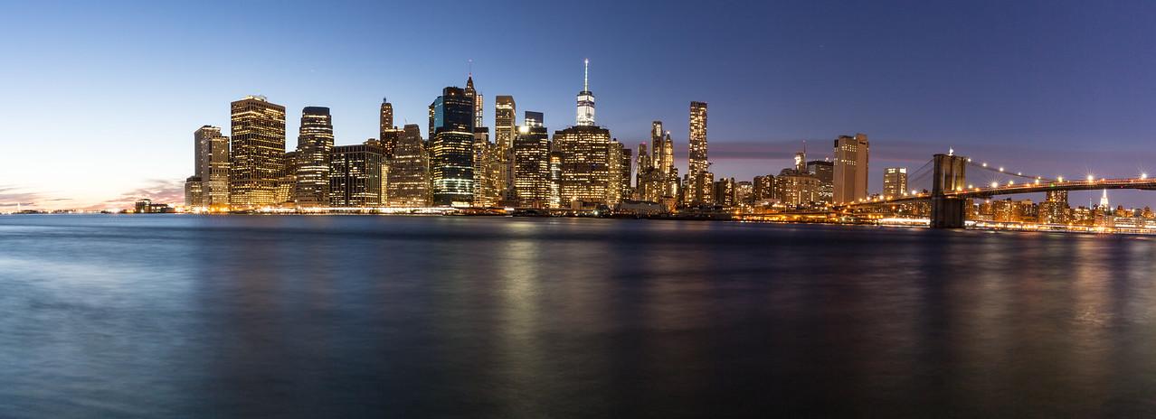 Panoramic Image of the New York city skyline