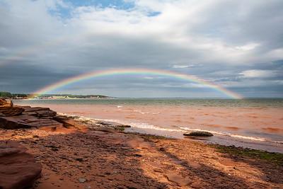 Low angle rainbow