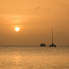 Grand Cayman Sunset 1 with catamaran and fishing boat.