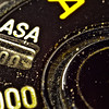 Manual mode dial on film camera