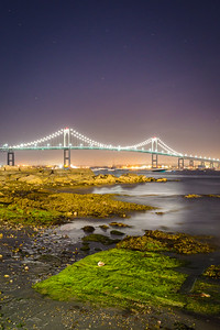 Newport Bridge Under The Stars
