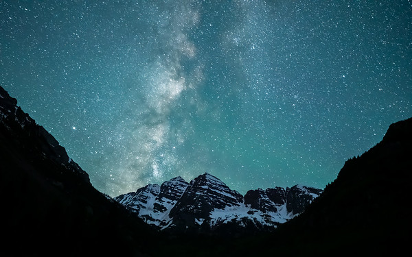 Maroon Bells and the Milky Way