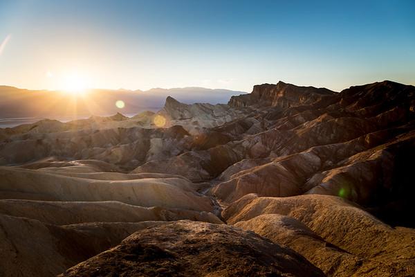 Zabriskie Point Sunset, Death Valley, CA