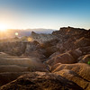 Zabriskie Point Sunset, Death Valley, CA
