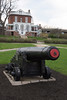 A 19th Century Cannon Adorns the Lawn of the Commandants House in the Former Charlestown Navy Yard in Boston, MA, USA.<br /> (c) Tom Croke/Visual Image, Inc.