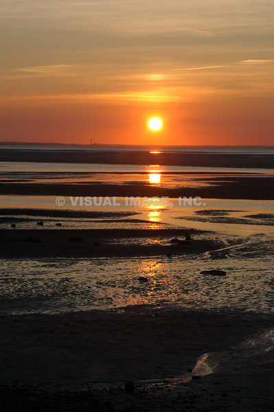 Sunset on Chapin Beach, Dennis, MA on Cape Cod.