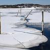 Wellfleet Harbor in Winter, Wellfleet, MA on Cape Cod.