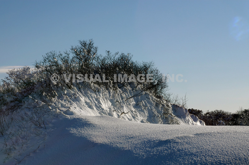 Snow on Dune, Chapin Beach, Dennis, MA.