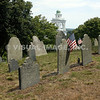 Historic Burial Hill in Plymouth, MA.